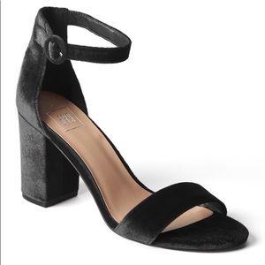 Gap velvet block heel